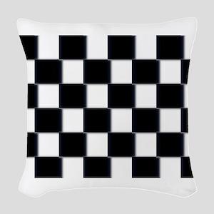minimalist checkerboard Woven Throw Pillow