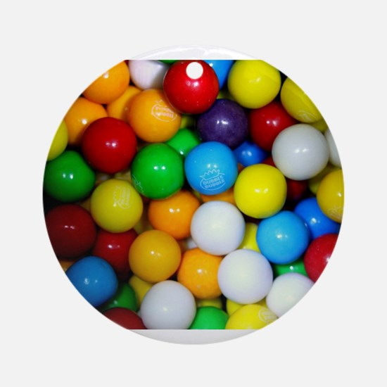 gumballs candy Ornament (Round)