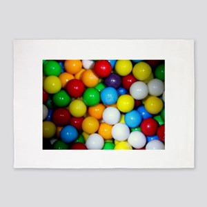 gumballs candy 5'x7'Area Rug