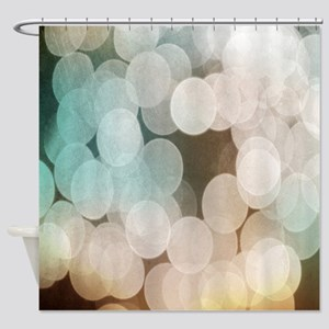 Grainy Lights Out Of Focus Shower Curtain
