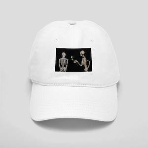 goth valentines day skeletons Cap