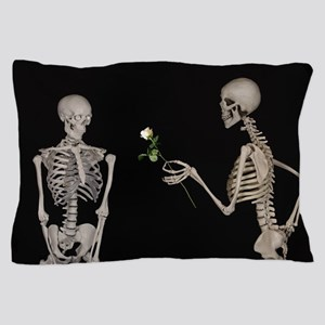 goth valentines day skeletons Pillow Case