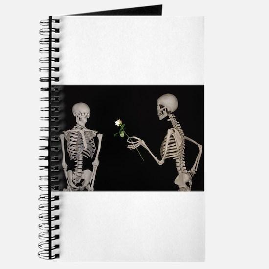 goth valentines day skeletons Journal