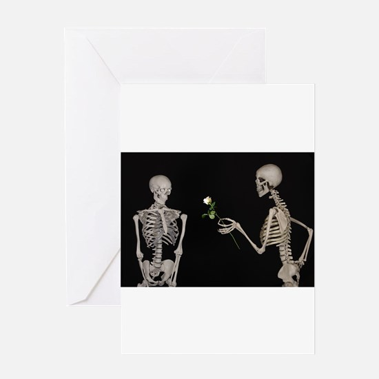 goth valentines day skeletons Greeting Cards