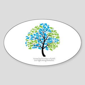 Peace Tree - Oval Sticker