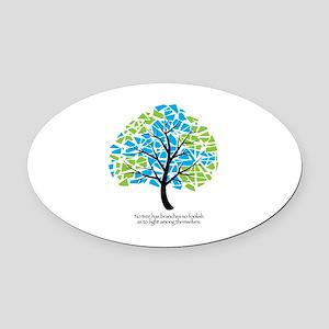 Peace Tree - Oval Car Magnet