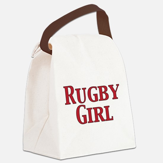 Rugby Girl Canvas Lunch Bag