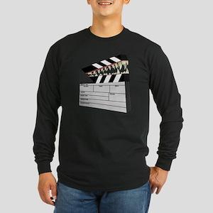 """Snapboard"" Clapboard Long Sleeve Dark T-Shirt"