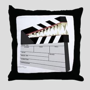 """Snapboard"" Clapboard Throw Pillow"