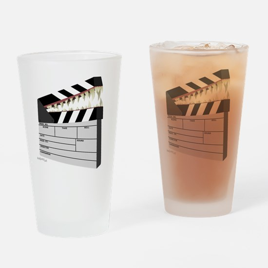 """Snapboard"" Clapboard Drinking Glass"