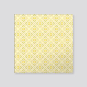 "Freesia & White Lace 2 Square Sticker 3"" x 3"""