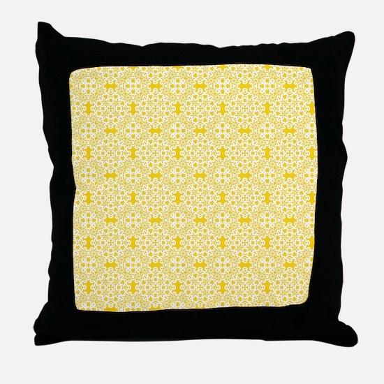 Freesia & White Lace 2 Throw Pillow