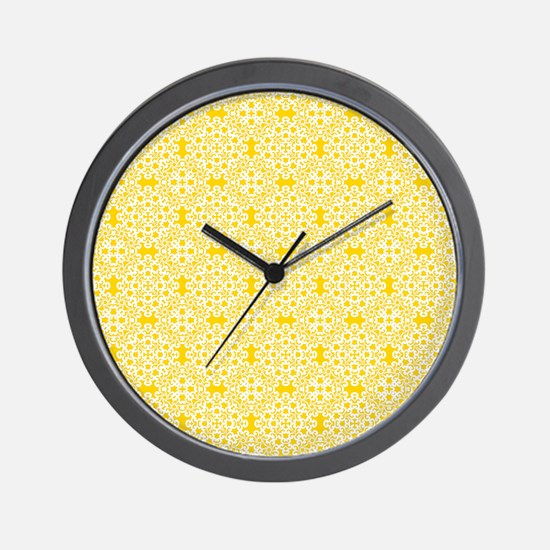 Freesia & White Lace 2 Wall Clock