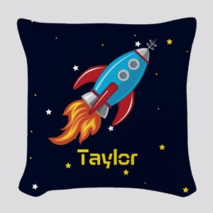 Rocket Ship in Outer Space, Boy or Girl Kid's Wove