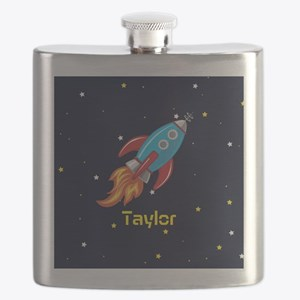 Rocket Ship in Outer Space, Boy or Girl Kid's Flas