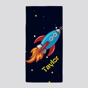 Rocket Ship in Outer Space, Boy or Girl Kid's Beac