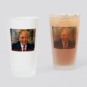 Zombie Trump Drinking Glass