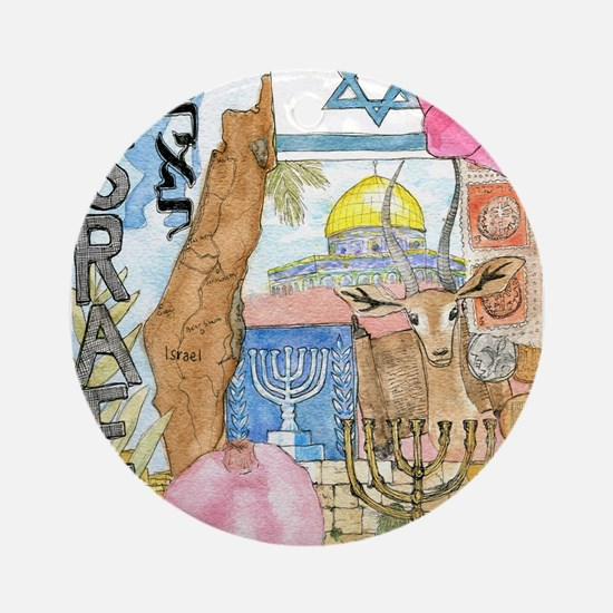 Israel, Ornament (Round)