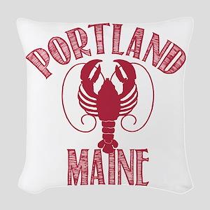 Portland Maine Woven Throw Pillow