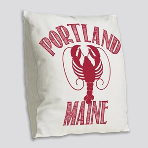 Portland Maine Burlap Throw Pillow