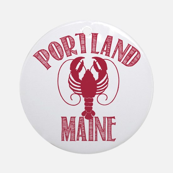 Portland Maine Ornament (Round)