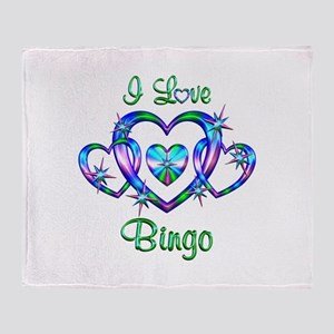 I Love Bingo Throw Blanket