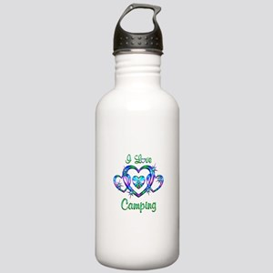 I Love Camping Stainless Water Bottle 1.0L