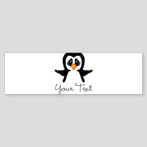 Personalizable Penguin Bumper Sticker
