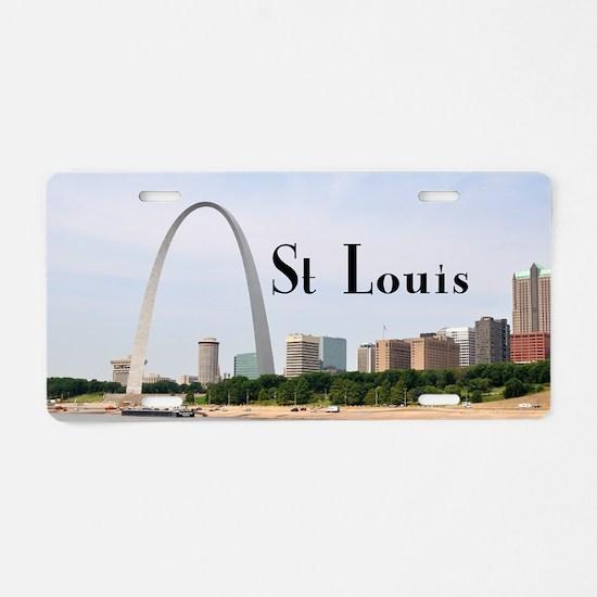 St. Louis Aluminum License Plate