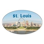 St. Louis Sticker (Oval 10 pk)