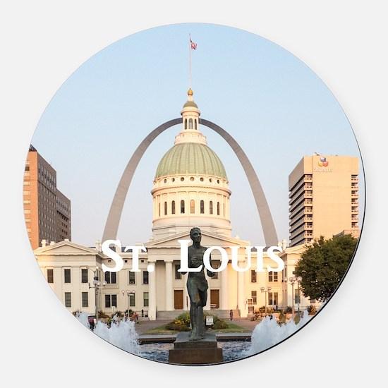St. Louis Round Car Magnet