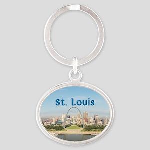 St. Louis Oval Keychain
