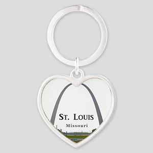 St. Louis Heart Keychain