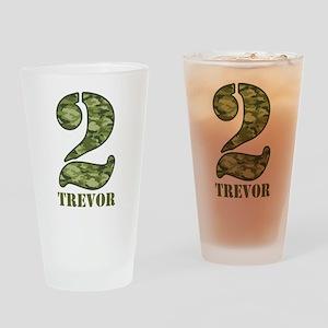 Green Camo 2nd Birthday Drinking Glass