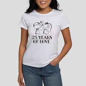 25th Anniversary chalk couple Women's T-Shirt