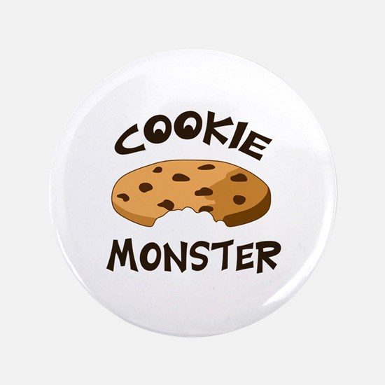 "COOKIE MONSTER 3.5"" Button"