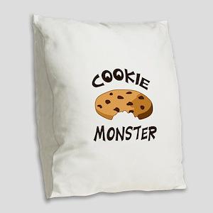 COOKIE MONSTER Burlap Throw Pillow