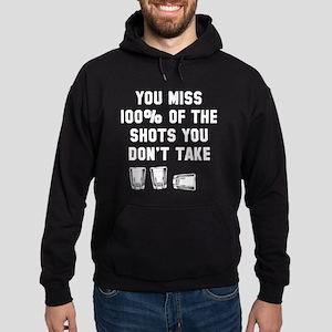 You miss 100% of shots Hoodie (dark)