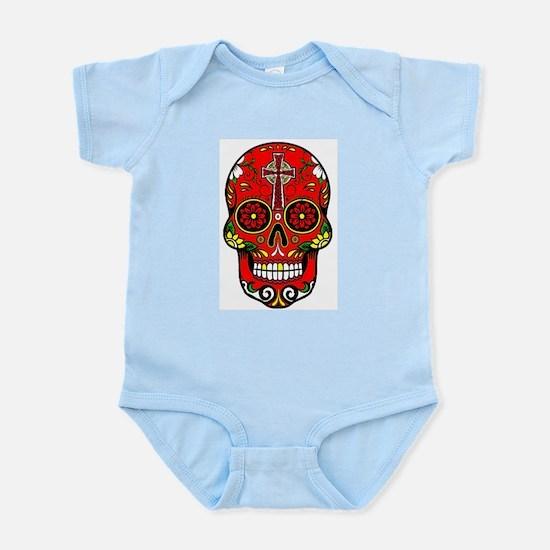 red sugar skull Body Suit