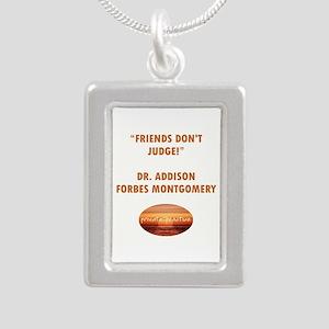 FRIENDS DON'T JUDGE Silver Portrait Necklace