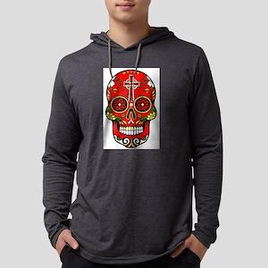 red sugar skull Long Sleeve T-Shirt