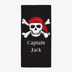 Personalized Jolly Roger Beach Towel