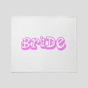 Pink Im the Bride Wedding Designer Throw Blanket