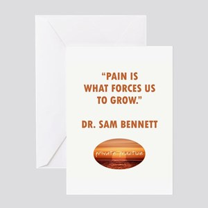 PAIN FORCES US TO GROW Greeting Card