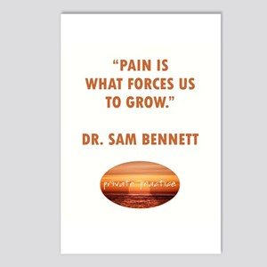 PAIN FORCES US TO GROW Postcards (Package of 8)