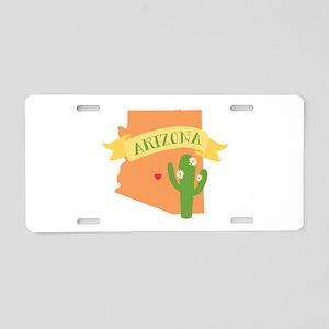 Arizona Cactus Blossom Aluminum License Plate