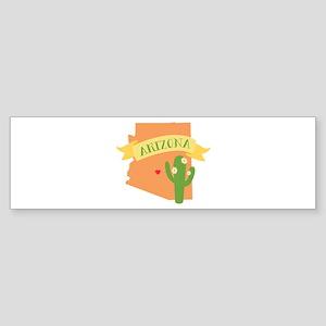 Arizona Cactus Blossom Bumper Sticker