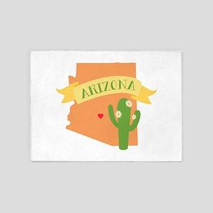 Arizona Cactus Blossom 5'x7'Area Rug