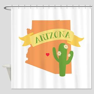 Arizona Cactus Blossom Shower Curtain