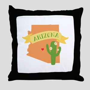 Arizona Cactus Blossom Throw Pillow
